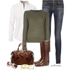 """Autumn Girl"" by archimedes16 on Polyvore"