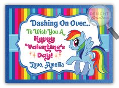 My Little Pony Rainbow Dash Valentine's Day Card