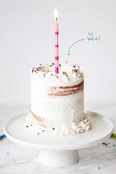 Mini Birthday Cake//
