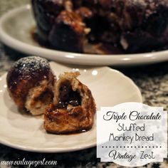 Triple Chocolate Stuffed Monkey Bread with Milky Way Bites 26 #shop #gamedaybites