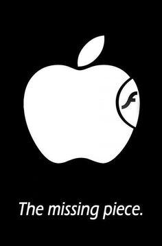 The Missing bite of apple.