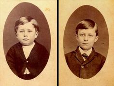 Orville and Wilbur as kids c. 1875