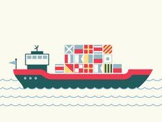 Cargo Ship by brian hurst  ---------------------------------------  color