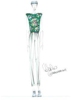 Autoritratto: #bozzetto di Valentino Fiammetta, #fashion #designer by #harim #accademiaeuromediterranea