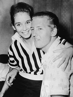 Jerry Lee Lewis and his child cousin bride, Myra Gale Brown.