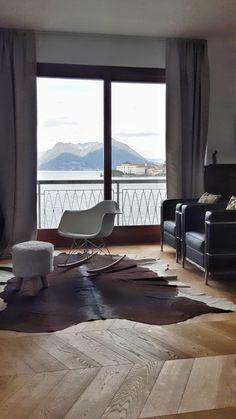 Loft Flooring, Pouf, Eames, Windows, Contemporary, Studio, Rugs, Home Decor, Home