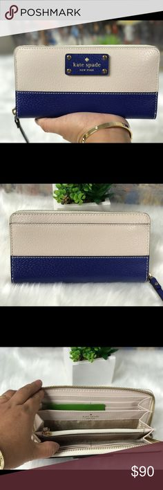 💙KATE SPADE WELLESLEY NEDA - NEW💙 ✅SALE  ALERT🚨 this beautiful needs to go.. Zip-around  12 credit card slots Zippered inside pocket for coins 7.75 x 4 x 1.75 inches  Retail Price: $158 kate spade Bags Wallets