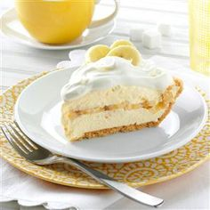 Favorite Banana Cream Pie Recipe -Cream pies are my mom's specialty, and this dreamy dessert has a wonderful banana flavor. It looks so pretty, and it cuts easily, too. —Jodi Grable, Springfield, Missouri