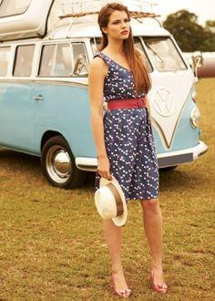 people tree printed poplin dress. 100% fair trade organic cotton.