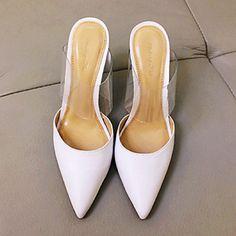 410e914c2e0c0f Leather Women Stiletto Heel Pointed Toe Sandals Shoes(More Colors)
