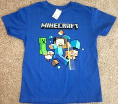 Minecraft Shirt - Clothing Minecraft Outfits, Minecraft Party, Minecraft Clothes, Minecraft Pictures, I Love My Son, Boys Shirts, Fashion Outfits, Womens Fashion, Shirt Outfit