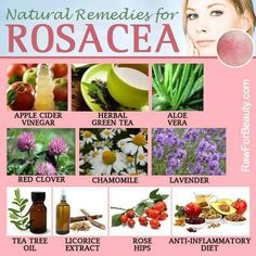 Besides transitioning to an anti-inflammatory diet, try some of these #natural remedies for #rosacea, a chronic, inflammatory skin condition which generally affects the face!