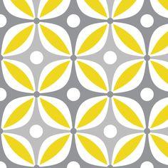 Lemon Peels - Mod Wallpaper - Three Color fabric by dianef on Spoonflower - custom fabric