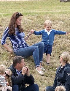 Catherine, Duchess of Cambridge attends the Gigaset Charity Polo Match with Prince George at Beaufort Polo Club on June 14, 2015 in Tetbury, England.