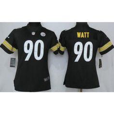 womens pittsburgh steelers 90 tj watt limited black vapor untouchable jersey. pittsburgh steelersnflnfl football