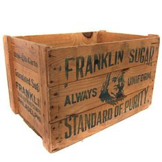 Graphic Design - Graphic Design Ideas - Vintage Franklin Sugar Wooden Storage Crate by Three Potato Four Graphic Design Ideas : – Picture : – Description Vintage Franklin Sugar Wooden Storage Crate by Three Potato Four -Read More –