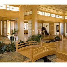 Asian Home Design Ideas  So cool!! I would LOVE to have a bridge in my house!