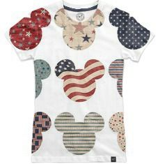 Patriotic Mickey's by My heart has ears Angela Nelson | Nuvango. Available in Women's and Men's t-shirts Mickey Mouse's in red, white and blue! An awesome shirt to wear on the 4th of July to honor our country's independence! The United States of America and Mickey Mouse. What could be better together?