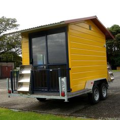 Tiny Homes on Wheels With Yellow Walls @  Qawoo Home Design.