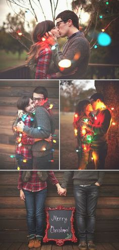 Christmas Card Photo Idea - Great idea to take at a wedding and then send for the holidays.