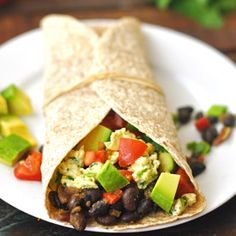 Vegetarian Breakfast Burrito - A great way to start the day!