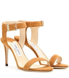 Jimmy Choo Truce 85 Suede Sandals For Spring-Summer 2017