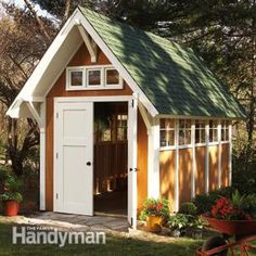 Garden Shed Illustrations and Materials List - This shed is not a beginner project, but if you have built a deck or other small structure, you shouldn't have any trouble constructing this shed.