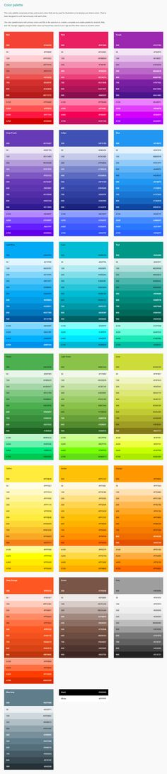 Google Material Design - Color styleguide