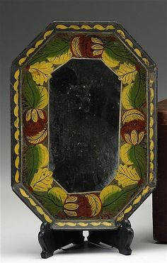 Painted and decorated tinware tray http://www.artfact.com/archives