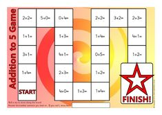 Addition to 5 Board Game (SB11519) - SparkleBox