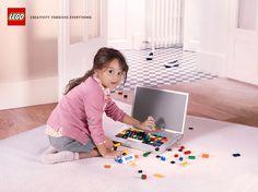 Case: Creativity forgives everything フランスのパリで制作されたLEGOのLEGOらしいプリント広告をご紹介。 グローバルおもちゃブランドのLEGOが、また