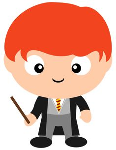 Loyal Ron Weasley.  Check out all the other Gryffindors we have in our Harry Potter clipart collection in our new Etsy shop.