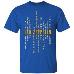 Led Zeppelin Shirts Words T shirts Hoodies Sweatshirts