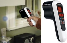 "Energy audit. Pick up Black & Decker's new Thermal Leak Detector to find weak spots in your home's ""insulation envelope."" Fixes are often as simple as installing foam gaskets under switch plates and outlet covers ($3 for 10 gaskets at Home Energy Solutions) and adding new weatherstripping around your entry door ($3 for 17 feet of self-adhesive foam strip at Lowes).  Cost: $40 for the leak detector at Black and Decker."