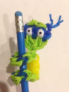Rainbow Loom Ninja Turtle pencil climber