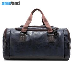 Men s PU Leather Sports Bag Duffel Tote Handbags Travel Bag for Gym Fitness  Male Bag Man 863d1ad58b520