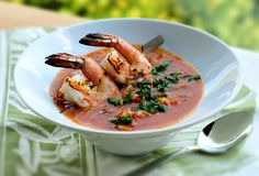 Rustic Gazpacho with Grilled Shrimp from Kalamazoo Outdoor Gourmet