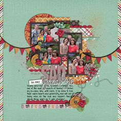 Sula's digital scrapbook layout using Juno's contribution to The Digi Files during March 2014
