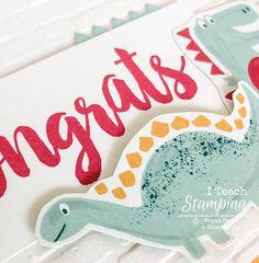 Adorable Congrats Card for Kids Pinking Shears, And Just Like That, Coordinating Colors, Card Kit, Free Paper, Diamond Pattern, Greeting Cards Handmade, Pattern Paper, Stamping