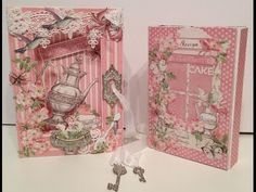 G45 Botanical Tea shadow book box with a recipe album inside from Anne #graphic45 #videos