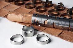 leather & metal chess set, an unusual, original design by rawstudio