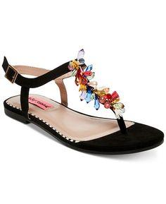 f8646598169 Betsey Johnson Rosita Flat Sandals - Black 5.5M