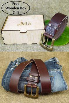 personalized leather belt for men groom gift from bride groomsmen