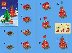 lego instructions | LEGO Holiday Building Set 40009 Instructions Viewer | Brick Owl - LEGO ... Lego Winter, Lego Christmas Ornaments, Lego Christmas Village, Lego Design, Lego Duplo, Lego Plan, Instructions Lego, Lego Therapy, Modele Lego