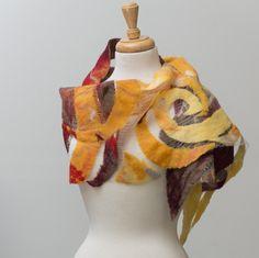 Nuno Schal fühlte Schal Seidenschal Geschenk für Mama von TERMEFELT