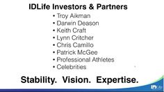 Who are the IDLife investors?