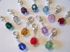 Birthstone Dangle for Origami Owl Charm Living Locket Necklace #Dangle