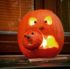 Halloween pumpkin decor.