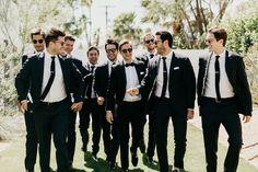 Squad Goals Groom And Groomsmen Attire Bridesmaids Wedding Tux