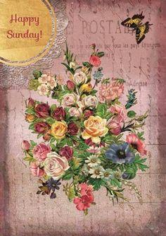 How to Decoupage On Cardboard Decoupage Vintage, Vintage Paper Crafts, Victorian Flowers, Vintage Flowers, Vintage Pictures, Vintage Images, Decoupage Printables, Foto Transfer, Collage